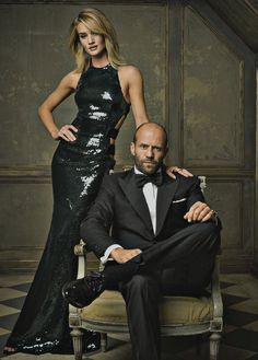 Vanity Fair, Rosie Huntington Whitley and Jason Statham, Oscars 2015