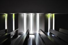 Dramatic lighting at the Parish Church of Solace by Vicens + Ramos #architecture