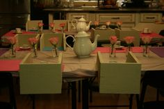 My Daughter's American Girl Doll Tea Party with a candy buffet.