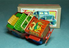 Vintage Friction Boys Cowboy Jeep in orig. box...early '50s, Japan