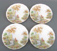 shopgoodwill.com: 4 Royal Standard Old Mill Dream Bone China Plates