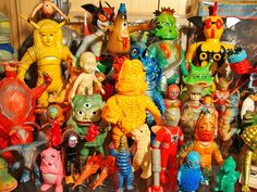Look at all these wonderful Kaiju!  toy collection of Paul Kaiju