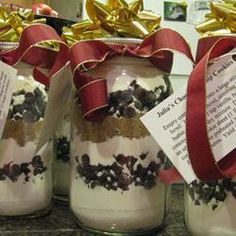 Chocolate Chip Cookies in a Jar recipe - Christmas Gifts