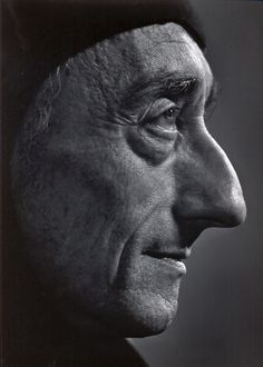 JACQUES COUSTEAU, c. 1972.  Photo: Yousuf Karsh.