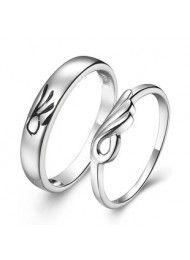 Sterling zilveren ring op de ring van mannen en vrouwen paar verjaardag 0129
