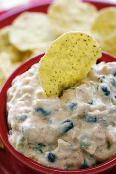Creamy Black Bean Dip - Every time you make this quick and easy dip it will disappear quickly. The recipe is prepared using pantry and refrigerator staples and it is always a hit at summer get togethers. Add some chopped jalapeno peppers if you like things hot and spicy!