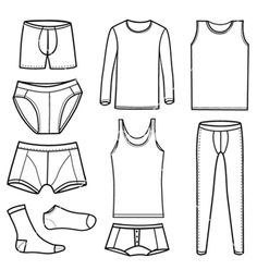 coloring pages underwear - photo#10
