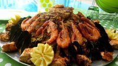 couscous aux fruits de mer crevette poulet moule clovisse saumon