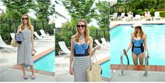 @Donna Maywald Navy one piece suit $16  Looking cool at the pool  Retro swim suit