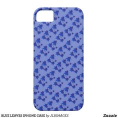BLUE LEAVES IPHONE CASE iPhone 5 COVER