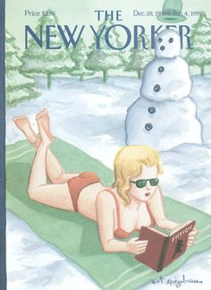 "The New Yorker - Monday, December 28, 1998 - Issue # 3826 - Vol. 74 - N° 40 - « Fiction Issue » - Cover ""Winter Fiction"" by Art Spiegelman"