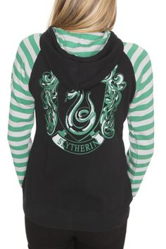Harry Potter And The Deathly Hallows Slytherin Girls Hoodie | Hot Topic