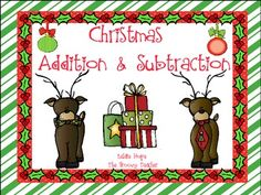 Use these Christmas addition and subtraction activities as centers or small group work. It includes an addition activity and 2 subtraction activities with recording sheets.It's a Ho Ho Ho lot of fun!