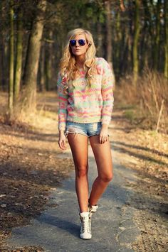 Sheinside Colored Stripes Knit Sweater  #Sheinside Sweaters #Stripes Knit Sweaters #Stripes Knit Sweater #Where To Buy Stripes Knit Sweaters #Colored Sweaters #Stripe Sweaters #Knit Sweaters #Sweater #Sweaters #Estelle Fashion Outfits #Fashionista