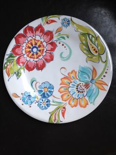 Color scheme Pottery Painting, Ceramic Painting, Ceramic Art, Clay Plates, Ceramic Plates, Clay Design, Ceramic Design, Painted Plates, Plate Art