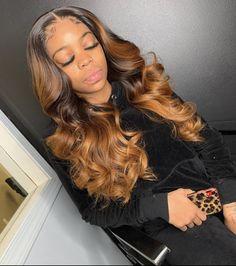 JKSevenhair Ombre Body Wave Brazilian Human Hair 4 Bundles a Lot Honey Brown Hair, Brown Ombre Hair, Honey Blonde Hair, Burgundy Hair, Black Girls Hairstyles, Wig Hairstyles, Frontal Hairstyles, Updo Hairstyle, Hairstyle Ideas