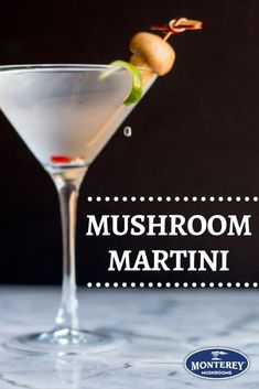 Try infusing your favorite gin with dried button mushrooms for an insanely good mushroom martini recipe! This cocktail recipe has an earthy smell of mushroom combined with the sweet taste of vermouth. A great option for your New Year's Eve parties. Best Mushroom Recipe, Mushroom Dish, Mushroom Recipes, Martini Recipes, Cocktail Recipes, Cocktails, Drinks, Drink Recipes, Drinking