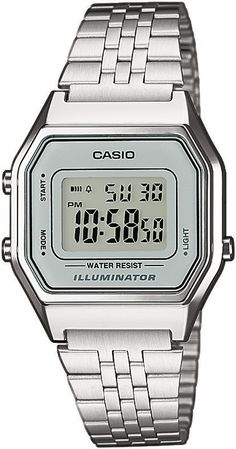 Casio Classic LA680WEA-7 LA680WEA-7EF, Casio Silver & Grey Retro Digital Watch for women