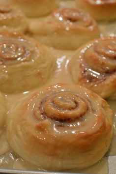 Warm vanilla glaze settles in every crevice in these rolls! My favorite cinnamon roll recipe EVER!