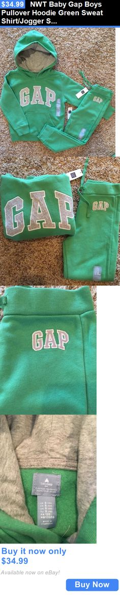 Baby Boys Clothing And Accessories: Nwt Baby Gap Boys Pullover Hoodie Green Sweat Shirt/Jogger Sweat Pants Outfit 5T BUY IT NOW ONLY: $34.99
