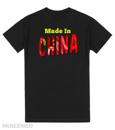 Made in China | Made in China statement with the word China in a Chinese flag…