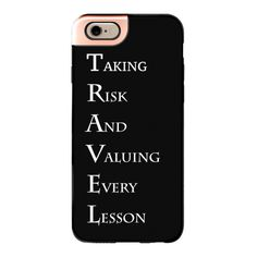 iPhone 6 Plus/6/5/5s/5c Metaluxe Case - T.R.A.V.E.L (73 NZD) ❤ liked on Polyvore featuring accessories, tech accessories, phone cases, phone, cases, electronics, iphone case, iphone cases, apple iphone cases and iphone cover case