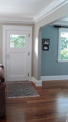 Benjamin Moore's Mount Saint Anne, Sherwin Williams Amazing Gray