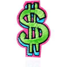 Love And Madness Dollar Sign Patch ($5) ❤ liked on Polyvore featuring accessories, patch and pins