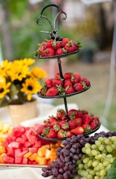 FRUIT buffet table would be a colorful & sweet idea for guests!! www.MadamPaloozaEmporium.com www.facebook.com/MadamPalooza