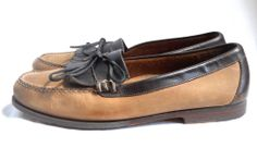 Boat Shoes Men Cole Haan 10.5 Loafer Tassel Brown Leather Hand Sewn Slip On 43