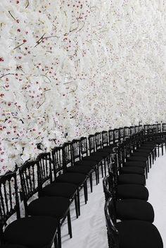 The backdrop of Dior Haute Couture, Autumn / Winter 2014 show.