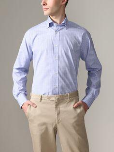 Cotton Check Button Down Shirt by Thomas Dean on Gilt.com
