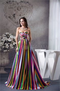 Robe de soirée 2015 colorée bustier en satin