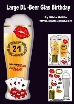 Large DL Beer Stem Birthday MK on Craftsuprint - Add To Basket!