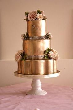 copper cake   metallic wedding cake  Stunning