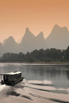 Li River at Dusk in Guilin, China