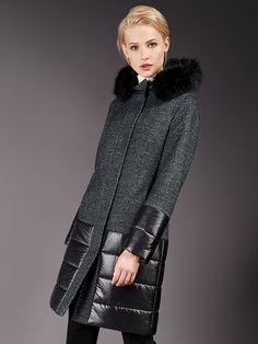 Пальто женское демисезонное цвет графит, Пальтовая ткань, артикул 1016750i80295