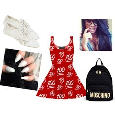 NERD GONE BAD⁉⁉ by deidrefraide123 on Polyvore featuring polyvore fashion style Wet Seal Moschino