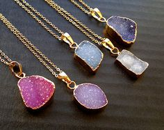 Popular items for druzy crystal on Etsy
