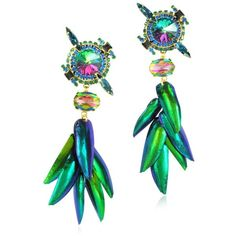Erickson Beamon Aquarela do Brasil Crystals Clip On Earrings (26.260 RUB) ❤ liked on Polyvore featuring jewelry, earrings, accessories, jewels, gioielli, clip back earrings, multi color earrings, colorful jewelry, iridescent jewelry and erickson beamon jewelry