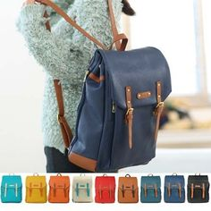 $20 New Womens Fashion School Backpack Faux Leather Bookbag Girls Boys Designer Cute | eBay