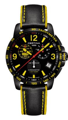 The Certina DS Podium Chronograph Lap Timer features a chronograph with a real-time tenths-of-a-second display. This chronometer-quality watch is powered by a quartz movement. This model is Certina's racing edition, dedicated to ADAC GT Masters. Sport Watches, Watches For Men, Zeppelin Watch, Apple Watch Fashion, Swiss Made Watches, Modern Watches, Iwc, Leather Buckle, Shopping