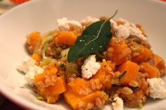 Delicious Dishings: Farrotto With Butternut Squash, Sage, And Goat Che...