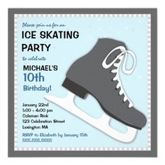 Boys Ice Hockey Birthday Invitation Printable Invite Hockey