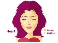 #Makeup Contouring for Heart Face Shapes