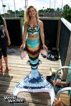 Mermaid Kristy of the famous Weeki Wachee mermaids. Top and tail by Merbella Studios