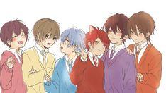 全員集合 Kuroko, Manga Art, Anime Art, Boy Drawing, Anime Best Friends, Cute Anime Boy, Anime Chibi, Amazing Art, Cool Art