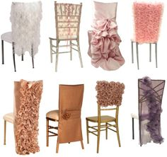 Ideas on how to dress up the chairs on your wedding day!