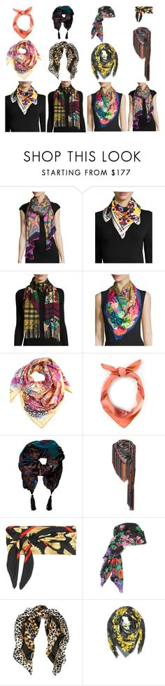 """Handkerchiefs2"" by stylev ❤ liked on Polyvore featuring Liberty, Fendi, Burberry, Salvatore Ferragamo, Hermès, Emanuel Ungaro, Missoni, Dolce&Gabbana, Gucci and Marc Jacobs"