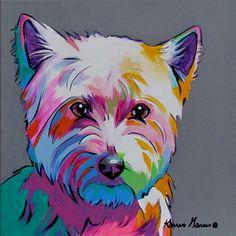 Pop Art Westie commission on canvas
